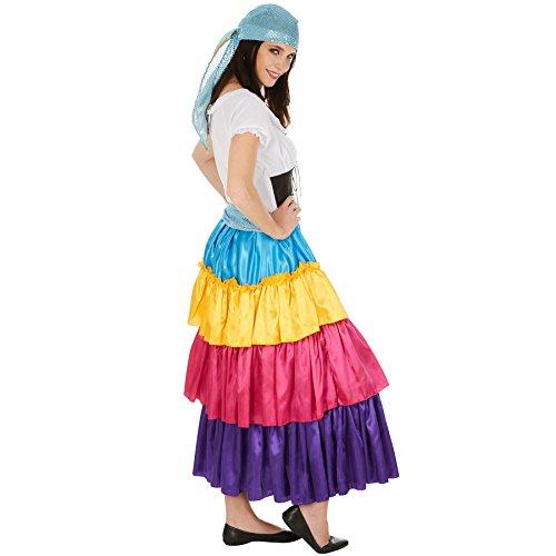 Imagen de disfraz de pitonisa para mujer | vestido largo espectacular | incl. cinturón y pañuelo extra para la cabeza m | no. 301011  alternativa