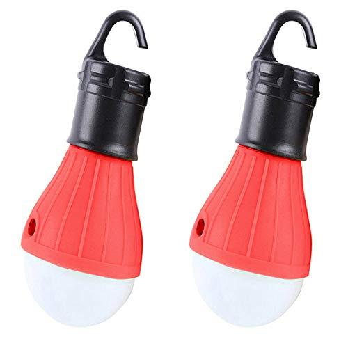 TianranRT 2 Stück Outdoor Notfall Lampe LED Camping Zelt Angeln Laterne Hängend Licht (Rot) -