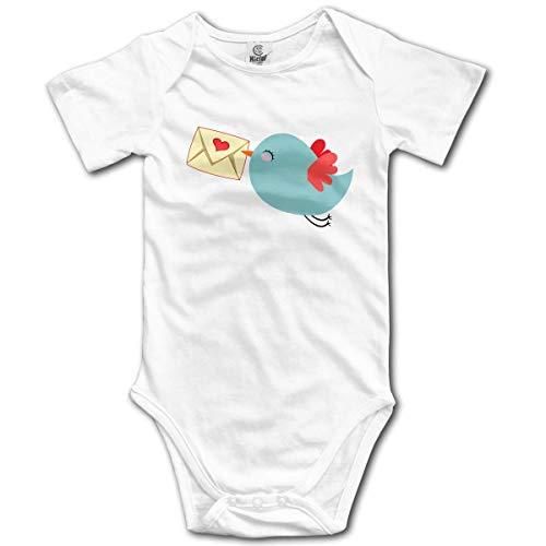 dy Kurzarm Cute Mail Bird Newborn Bodysuits Baumwolle Strampler Outfit Set ()