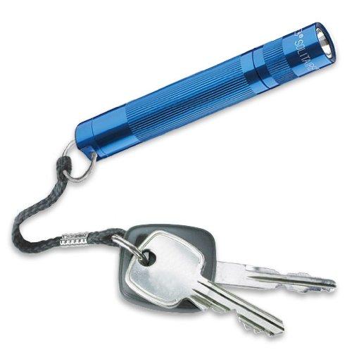 Mag-Lite 8 cm Mini Taschenlampe, LED Solitaire bis zu 37 Lumen, inklusive 1 Micro-Batterie und Schlüsselanhängerschlaufe, blau, J3ADS2E