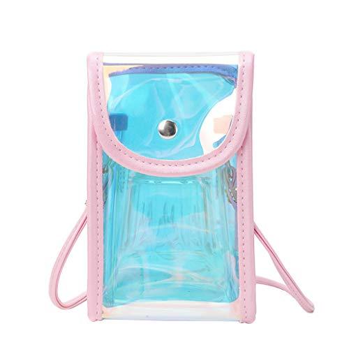 XZDCDJ Crossbody Tasche Damen UmhängeTaschen Daypacks Frauen Transparent Messenger Bag Einfache Mode Umhängetasche Small Square Bag
