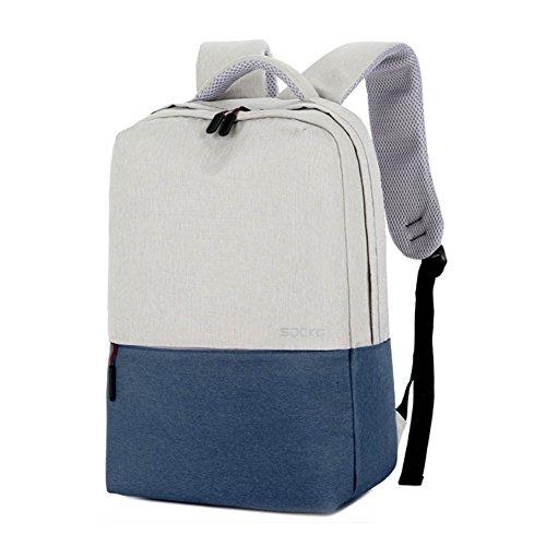Einfaches Design Rucksack Schultertaschen Multi Pocket Bags
