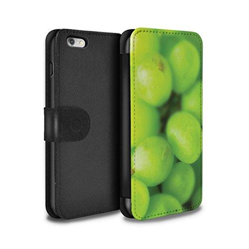 STUFF4 PU-Leder Hülle/Case/Tasche/Cover für Apple iPhone 6+/Plus 5.5 / Erdbeere Muster / Obst Kollektion Trauben