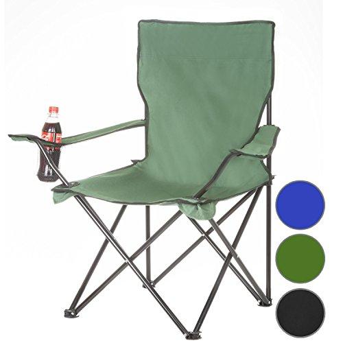 Angelstuhl Campingstuhl Klappstuhl Camping Faltstuhl Campinghocker - grün
