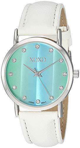 XOXO Women's Analog-Quartz Watch with Leather-Synthetic Strap, White, 17.5 (Model: XO3452) - Xoxo Watchs Frauen