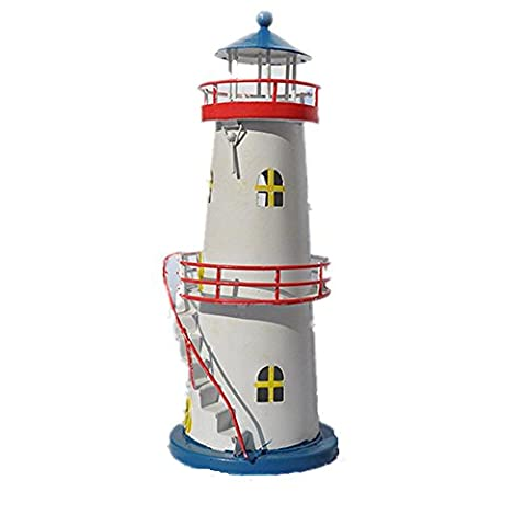 xiuxiandianju Eastern Mediterranean Style Tin Stairs Lighthouse Candle Holder Creative