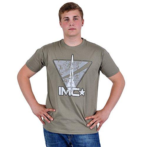 Titanfall - T shirt con stampa vintage del logo IMC - Girocollo - Verde - M