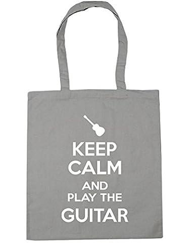 HippoWarehouse Keep Calm and Play the Guitar (Acoustic) Tote Shopping Gym Beach Bag 42cm x38cm, 10 litres