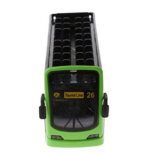 MagiDeal 1:36 Tour Besichtigung Doppeldecker Bus Fahrzeug Modell, mit Licht und Musik Funktion, Diecast Auto Kinder Spielzeug Geschenk (Tour-bus Zu)