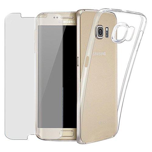 EximMobile Silikon Case + Panzerglasfolie für Samsung Galaxy S7 | Handyhülle mit 9H Panzerglas | Schutzhülle mit Schutzfolie | Handytasche Silikonhülle Tasche Panzerfolie Displayschutz