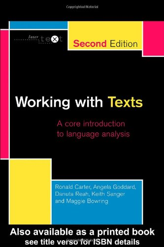 Working with Texts: A Core Introduction to Language Analysis: A Core Book for Language Analysis (Intertext)