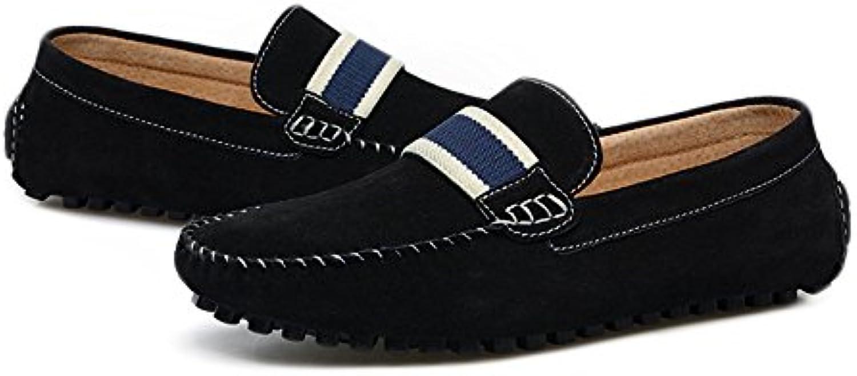 Easy Go Shopping Herren Driving Loafers Wildleder Echtes Leder Penny Mokassins Slip on Bootsschuhe Grille Schuhe