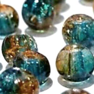 100-pieces-6mm-crackle-glass-beads-turquoise-brown-a1627-by-k2-accessories-crackle-glass-beads