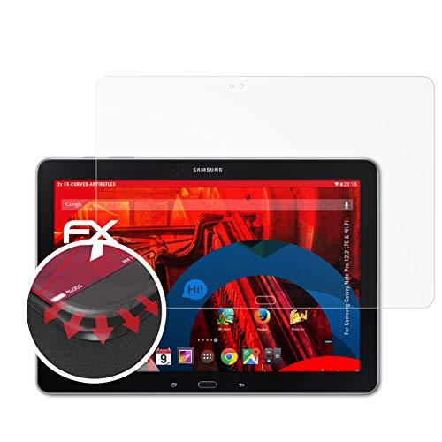 atFolix Schutzfolie passend für Samsung Galaxy Note Pro 12.2 LTE & Wi-Fi Folie, entspiegelnde und Flexible FX Displayschutzfolie (2X)