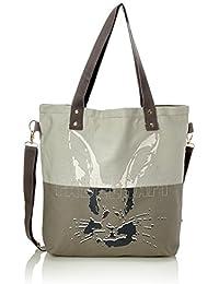 Adelheid - Fabelhaft Einkaufstasche, Bolso Mujer, Gris (Silbergrau), 10x39x44 cm (B x H T)