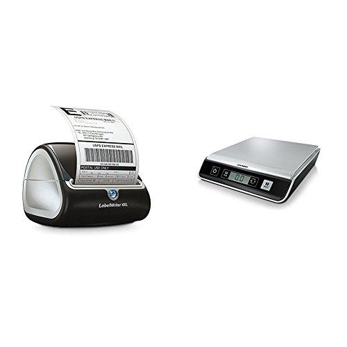 Dymo S0904950 LabelWriter 4XL - für extrabreite Tischetikettendrucker Etikettensystem + Dymo M10 Briefwaage (Digital, 10 kg)