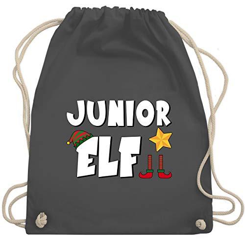 Weihnachten Kind - Partnerlook Junior Elf - Unisize - Dunkelgrau - WM110 - Turnbeutel & Gym Bag