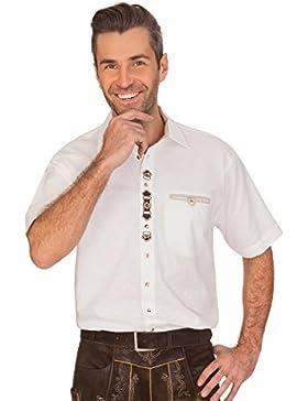 orbis Textil Trachten Herren Hemd mit 1/2 Arm - Ferdinand - Weiß