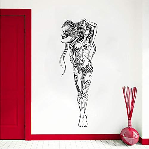 nhut Wall Decal Fantasy Frauen Wandaufkleber Home Decoration Neues Design Wandbild Magische Dame Vinyl Art 42X121Cm ()