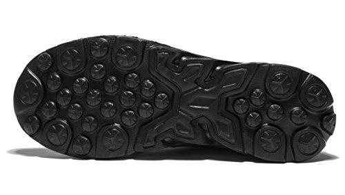 Vanskelin - Calzature atletiche da esterno sportive da uomo da corsa con stringhe e rete traspirante leggero casual Black