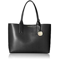 Emporio Armani Frida Large Eco Leather Shopper One Size BLACK