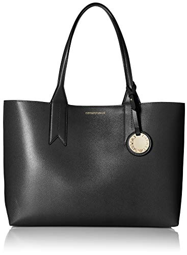 Emporio Armani Frida Large Eco Leather Shopper One Size BLACK