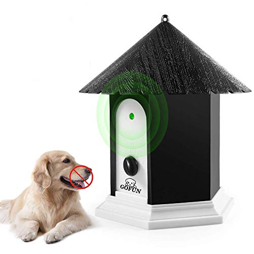Hund Ultraschall Anti Bellen Repeller Effektive Hund Outdoor Antibell Trainer Barking Stoppen Trainingsgerät Bark Stop - Bellkontrolle für große und kleine Hunde Ultraschalltechnologie (Schwarz)