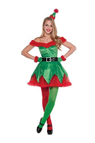 Christy's - Costume sexy da piccola aiutante di Babbo Natale, Donna, taglia: S