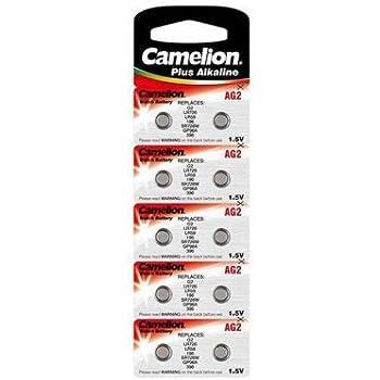 CAMELION Pile bouton pour montre 1.5V-25mAh LR726/AG2 (10 pcs/bl)