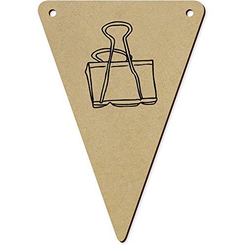 Azeeda 5 x 140mm 'Pince à Dessin' fanions Triangles en Bois (BN00024921)