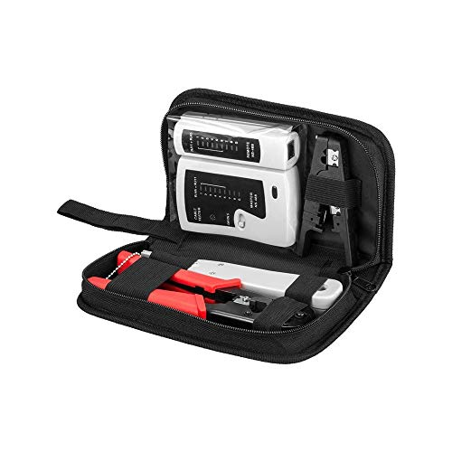 Goobay 97790 Werkzeugset für Telefon- und Netzwerkinstallation schwarz/rot/weiß