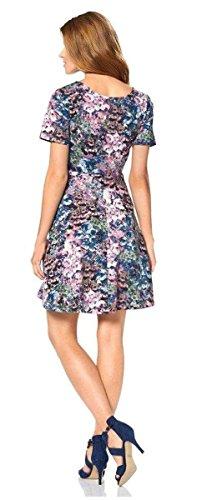 ... Aniston Damen-Kleid Mini-Kleid Blüten-Kleid Stretch-Kleid bunt Bunt