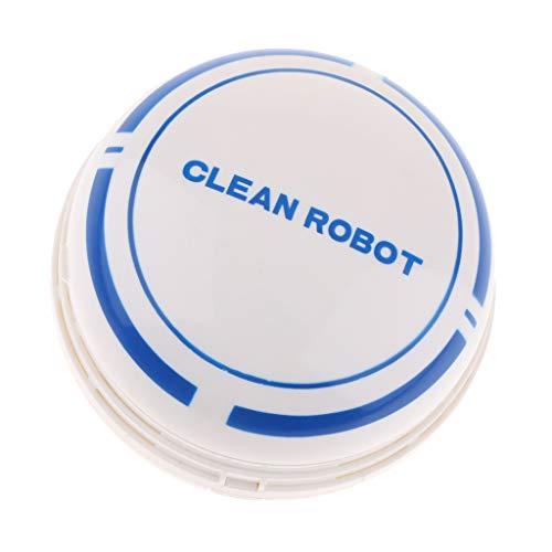 perfk Mini Schreibtisch Staubsauger Roboter Batteriebetrieben Staub-Reiniger Ideal Zum Bürooberfläche, Möbeloberfläche - Weiß (Schreibtisch Staub-reiniger)