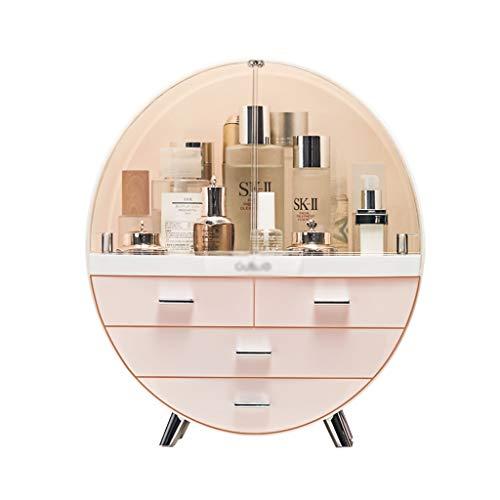 Ausstellungsstand Make-up-Manager Parfüm-Ausstellungsstand Stereo-Make-up-Box Acryl Kosmetik Veranstalter Große Kapazität/Geburtstagsgeschenk (Color : Pink, Size : 34 * 18 * 40cm) (Veranstalter Acryl-kosmetik-make-up)