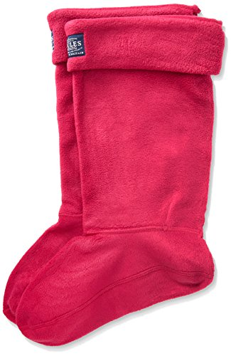 Joules Damen Socken Welton, 100 Den, Pink (Ruby), Small (Boot Welly Socks)