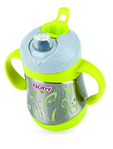 Nuby ID10260 Thermo Edelstahl Trinkbecher mit Trinktülle, 220ml - 2