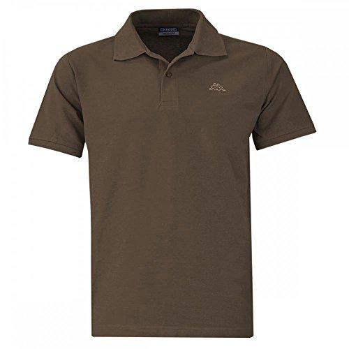 Kappa Polo ziatec Edition-Golf Shirt-Camicia polo-Polo da uomo, serie 1, 2o 3Pack, 1 x terra, M