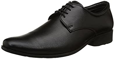 BATA Men's Alfred Black Formal Shoes-8 UK/India (42 EU) (8216103)