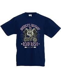 lepni.me Camiseta para Niño/Niña Ruta 66, autopista de los Estados Unidos