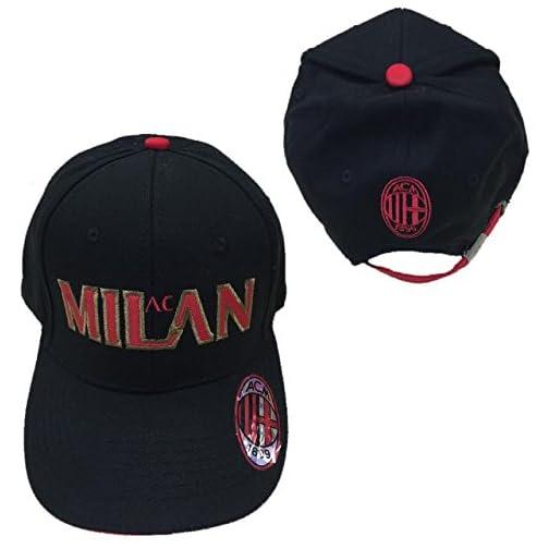 Cappello Uomo Baseball A.C. Milan Calcio Cappellino con Visiera  02774 a02383cba1aa