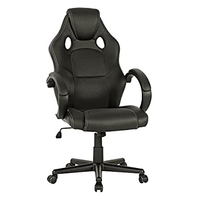 LIFE CARVER PU Leather Executive Office Chair Swivel Computer Desk Chair produced by LIFE CARVER - quick delivery from UK.