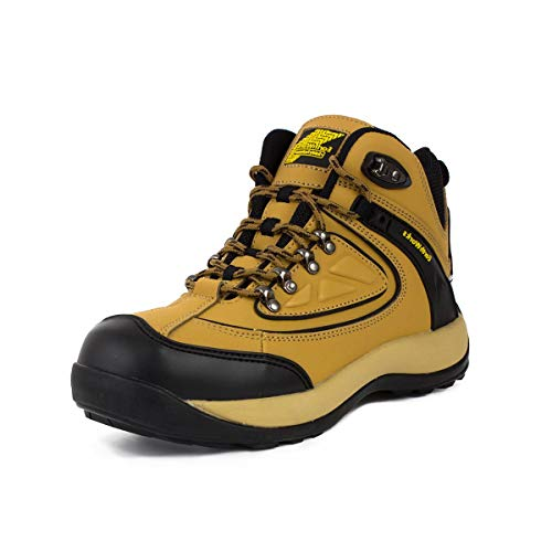 Earth Works Safety - Earth Works Mens Lace Up Safety Boot in Honey