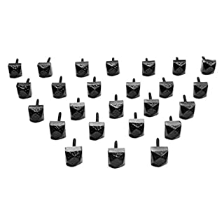 Adonai Hardware 16mm Hallelujah Black Antique Iron Decorative Door Stud (25 pieces per box)