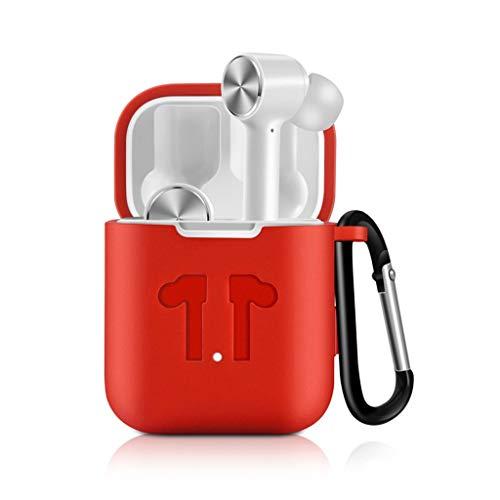 Silikon Universal Weiche Schutzhülle Abdeckung SO-buts für Xiaomi Airdots Pro TWS Kopfhörer, Bluetooth Headset Silikonhülle(Rot) -