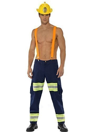 sexy Herren fireighter Feuerwehrmann Beruf Rettungsdienste Kostüm Kleid Outfit Größe M