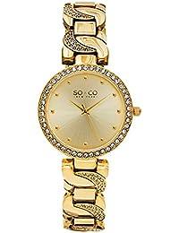 SO & CO New York 5062.2 Damen-Armbanduhr Analog Edelstahl beschichtet