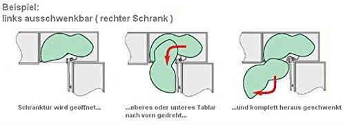 SO-TECH® LeMans SoftStopp-Plus-Dämpfer (2er-Set) links silbergrau ... | {Eckschrank küche maße 34}