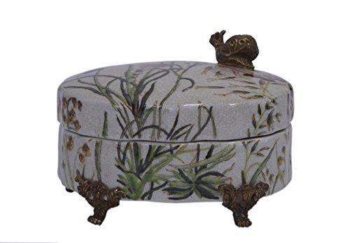 Porcelaine Décoré boîte à bijoux en bronze