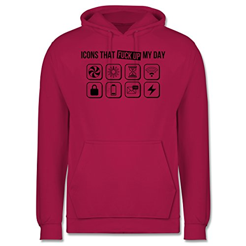Designer - Icons that fuck up my day - Männer Premium Kapuzenpullover / Hoodie Fuchsia