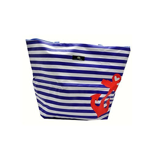 Oversized Beach / Pool Tote - Platinum Series with Zipper / Pocket by (Oversized Tote)